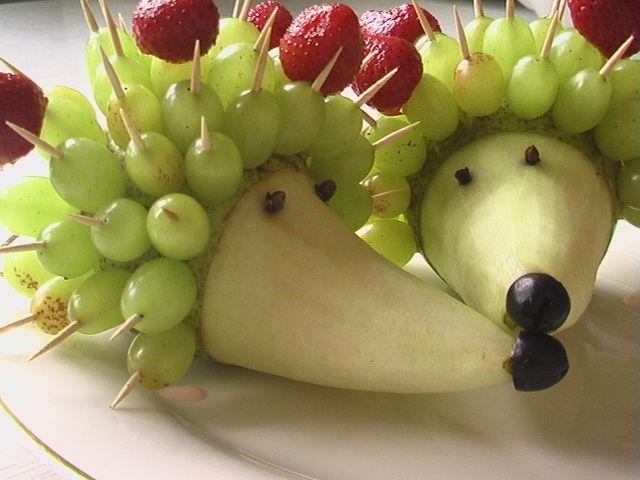 Egel Fruit Traktatie - Hedgehog Fruit Treat #DIY