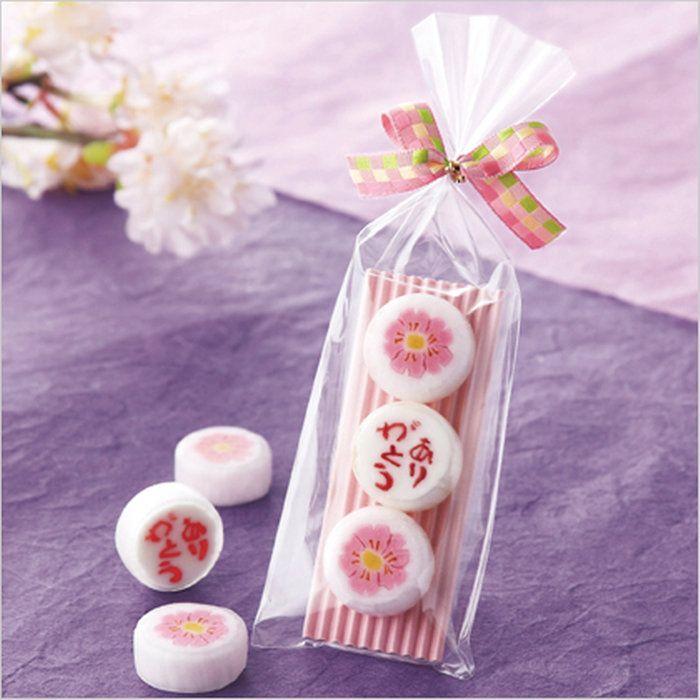 ウェディンググッズ・結婚ありがとう桜(飴3粒)ウエディングギフト・ブライダルギフト・記念・プレゼント・結婚・結婚式・披露宴・演出