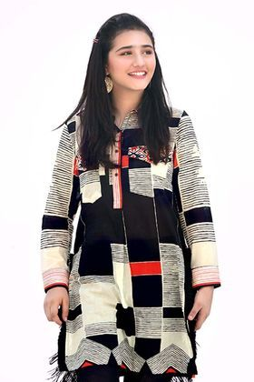 6149525bc3 Gul Ahmed 1 Piece Printed Lawn Custom Stitched Shirt - SL-481 - Black