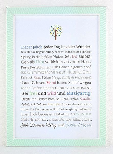 Weiteres - Geschenk Taufe Junge: Ein Bild als Taufgeschenk  - ein Designerstück von Frau-Soth bei DaWanda