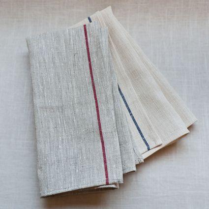 Fog Linen Thick Line Kitchen Towel