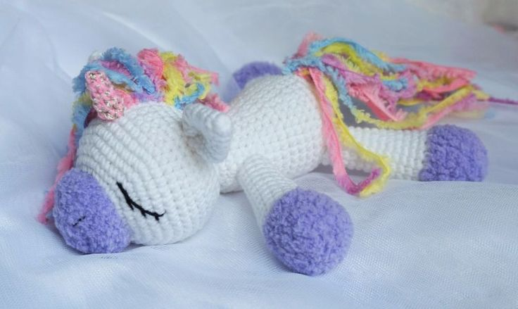 Sleeping unicorn pony crochet  (s) pattern free but you have to download if you ...