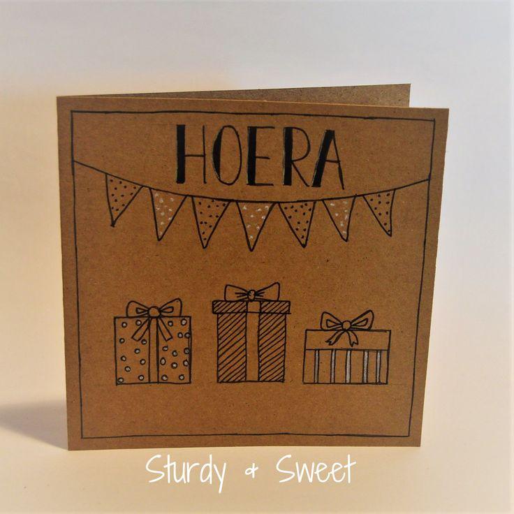 #handlettering #kaartje #verjaardag www.sturdyandsweet.jouwweb.nl