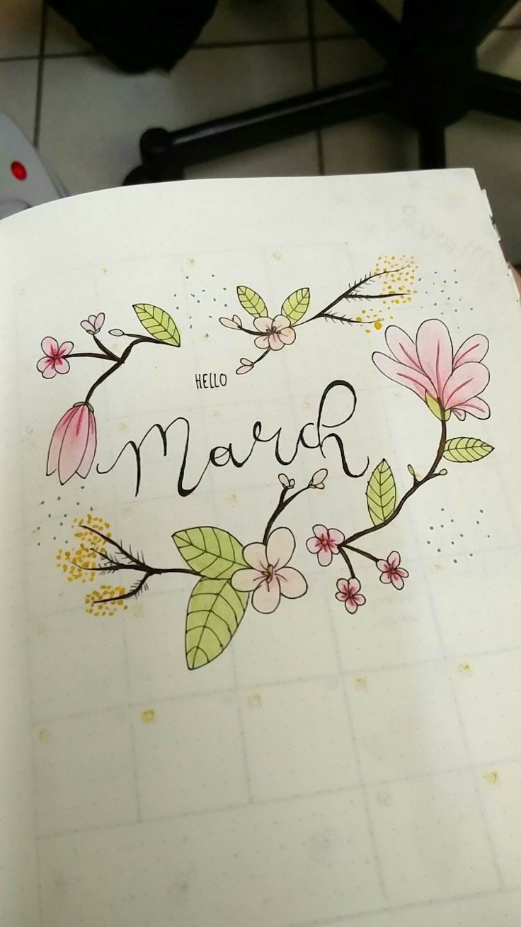 bullet journal hello March