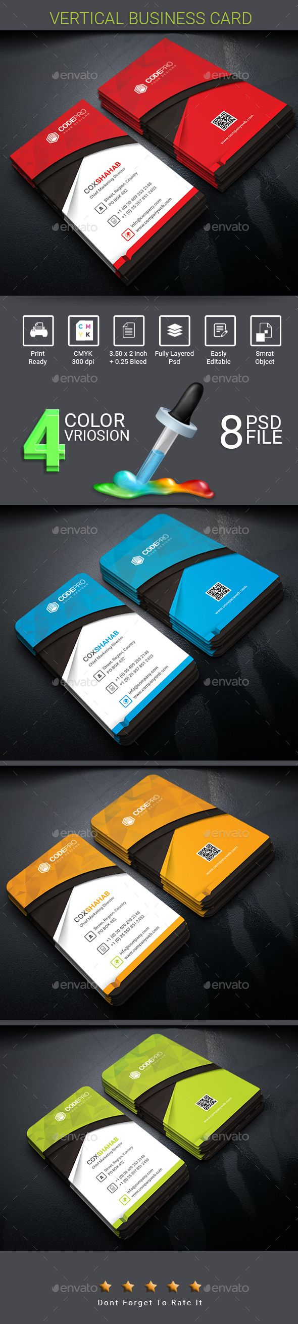 The 25 best vertical business cards ideas on pinterest modern vertical business card reheart Choice Image