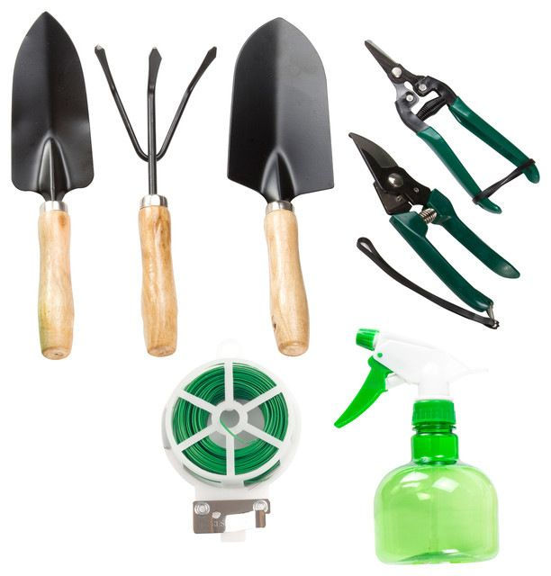 8 Piece Garden Tool And Tote Set Traditional Gardening Accessories