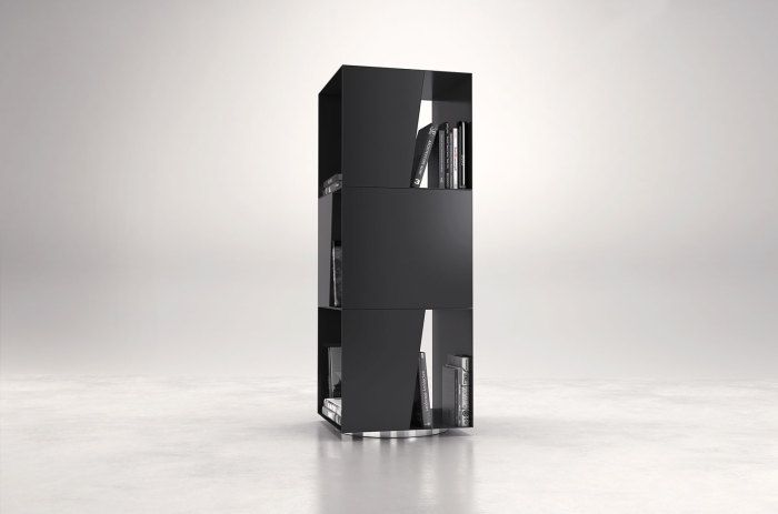 Bond Bookcase swivel base black