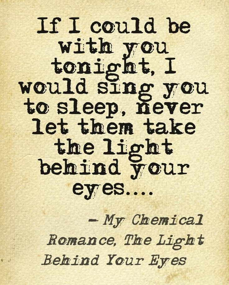 My Chemical Romance, The Light Behind Your Eyes