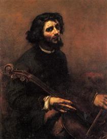 The Cellist, Self Portrait - Gustave Courbet