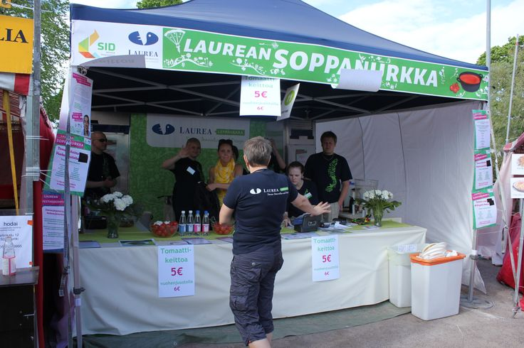 World Village Festival   From May 26th to May 27th.  Laurea visited the World Village Festival in Kaisaniemi, Helsinki.  Students from  Laurea Leppävaara campus set up a Laurea Soup Corner, where facility management students showed off their skills. Everything from the food served to the interior decoration of the tent was designed by students as a part of a course.