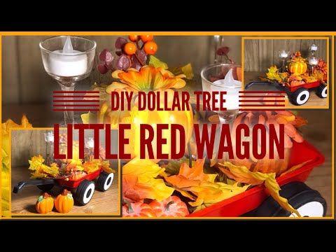 DIY Dollar Tree Little Red Wagon – Centerpiece, Vi…