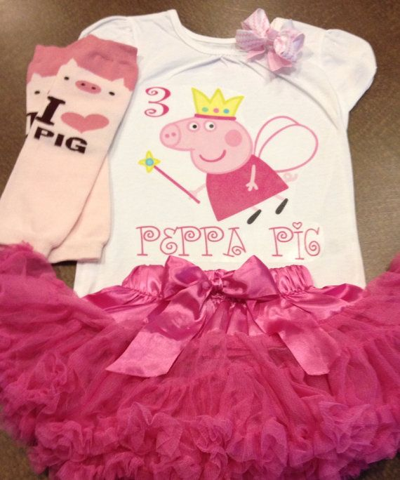 Peppa pig birthday outfit peppa pig outfit peppa by SaraSewtique, $30.99