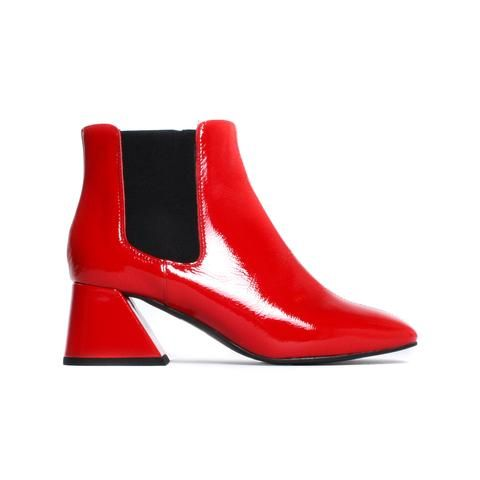 Belfast Red Naplak Leather