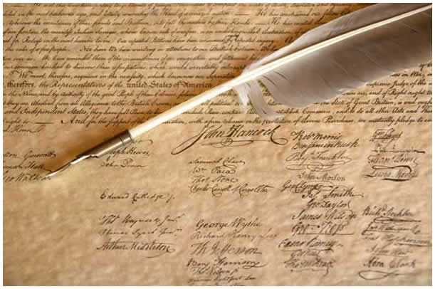 Fun Declaration of Independence Facts~There is quite a bit of debate about exactly when everyone signed. All the signatures of the Declaration of Independence we now have were put on the document from the 4th of July and many on the 19th and then more after August 2nd of 1776. Who knew?
