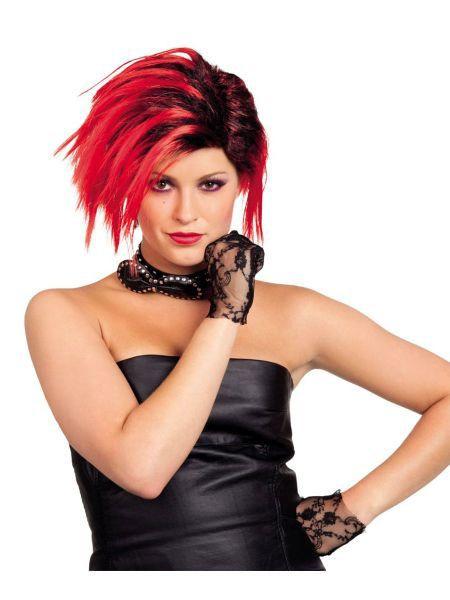 "https://11ter11ter.de/40345700.html Damen Perücke ""Scarlet Crazy Punk"" #11ter11ter #haare #perücke #redhead #punk #crazy #fasching #karneval #party #woman"