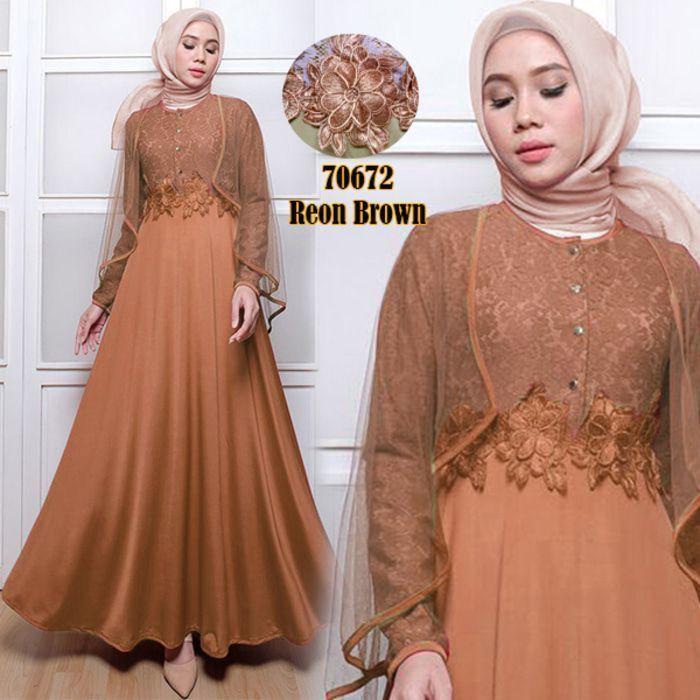 Model Baju Gamis Renda Terbaru Renda Model Baju Muslim