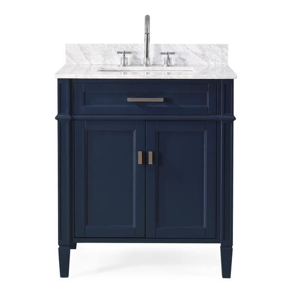 30 Tennant Brand Durand Navy Blue Bathroom Sink Vanity Zk 1808 V30nb In 2020 With Images Blue Bathroom 30 Inch Bathroom Vanity Vanity Sink