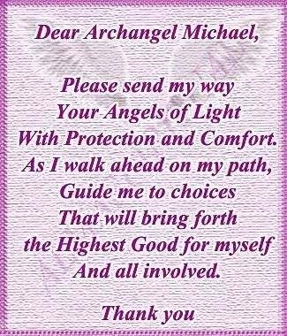 Dear Archangel Michael. Repinned by An Angel's Touch, LLC, d/b/a WCF Commercial Green Cleaning Co., Denver's Property Cleaning Specialists http://angelsgreencleaning.net