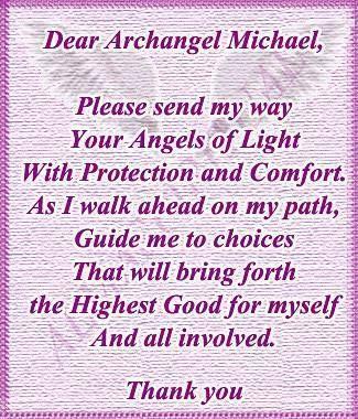 Dear Archangel Michael                                                                                                                                                                                 More