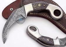 Сделанный на заказ красивый Дамасский двойной край Керамбит охотничий нож (FSL-077-9)