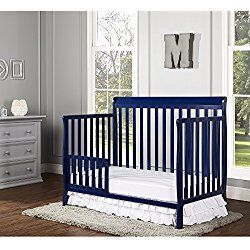 Dream On Me Alissa Convertible 4-in-1 Crib, Royal Blue