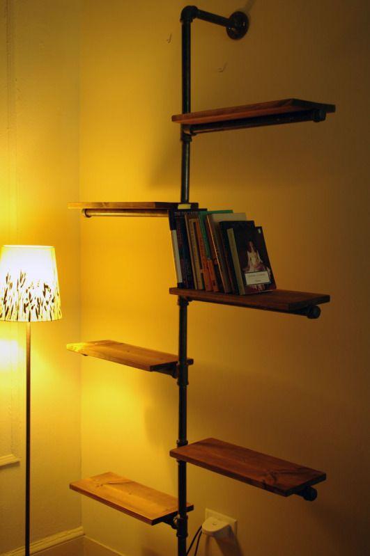 M s de 25 ideas incre bles sobre estantes de tubos en for Tubos de hierro rectangulares