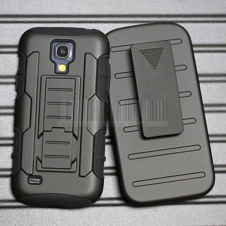 EGC Rugged Armor Holster Samsung Galaxy S4 Mini Case - Black