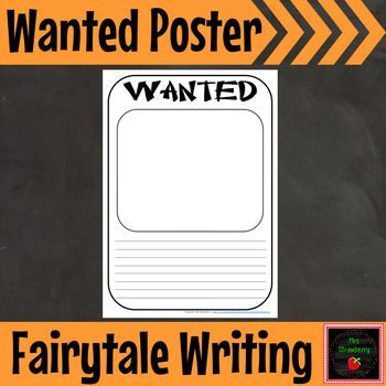 "Wanted Poster {Fairytale Writing} - Use this FREE download with your Kindergarten, 1st, or 2nd grade classroom or homeschool students during your next fairy tale unit. It's a great printable worksheet. It can be used ANY time you wanted to do a ""wanted"" writing activity with your K, first, or second graders. {freebie, writing, printable, worksheet}"