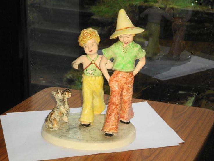 SUPERB RARE ANTIQUE ART DECO GOLDSCHEIDER PORCELAIN FIGURE GROUP FOR RESTORE    eBay