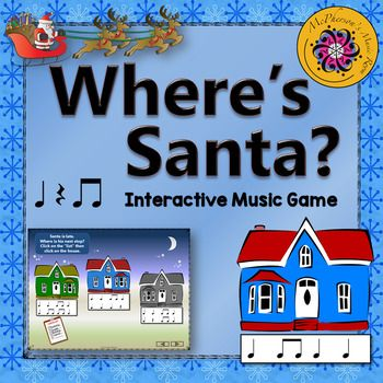 Eighth Notes Where's Santa?  Interactive Rhythm Game