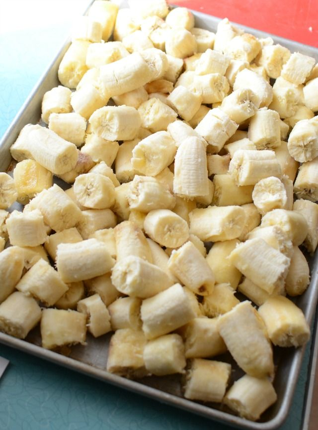 How to Freeze Bananas stock up while they are on sale and keep them in the freezer for smoothies!
