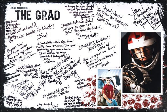 Honor the grad in a grand way! Create a Wall Print Poster (16x24 or 20x30) for your grad party. From Creative Memories.