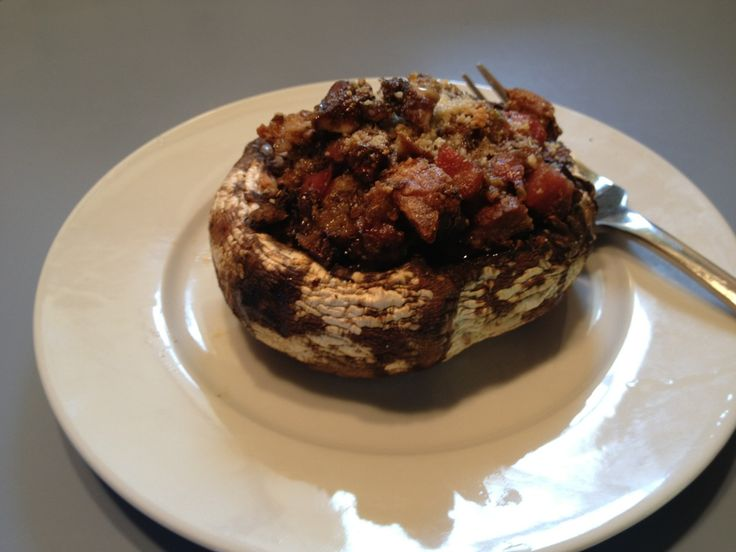 Stuffed Mushrooms with Mortadella and Parmesan