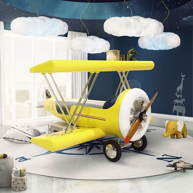 He Sky B Plane Is An Airplane Kids Bed With An Aviation Inspired