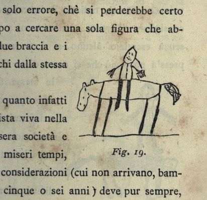 Fig. 19. Child's drawing of a rider. L'arte dei bambini. 1887.