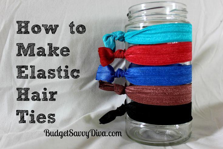 Make your own elastic hair ties!