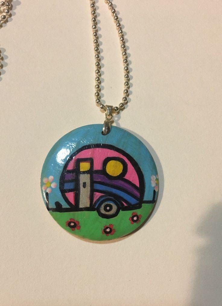 A personal favourite from my Etsy shop https://www.etsy.com/au/listing/505514111/vintage-caravan-art-pendant-original