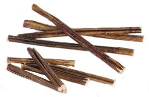 Only Natural Pet Free Range Bully Sticks. These free range bully sticks are much more nutritious than your slippers!