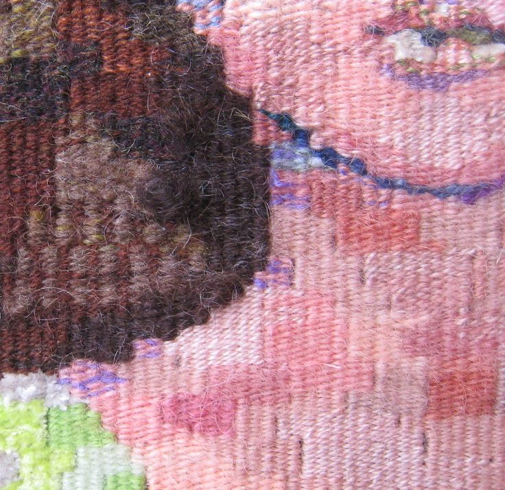 Ruth Manning, detail of a tapestry: Growing a Tapestry: Value, Word of the Year