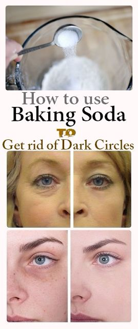 Reduce dark circles with baking soda | Health Fitness