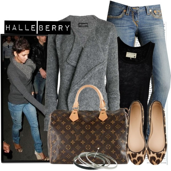 Pinner: Halle Berry and her fabulous style.   I care not for celebrities, but I love Louis V!