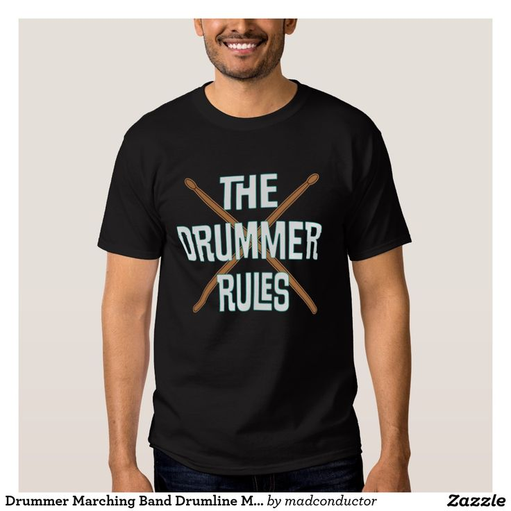 Drummer Marching Band Drumline Music Shirt