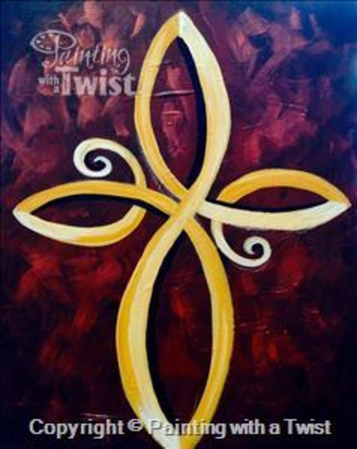 painting with a twist infinity cross in austin at painting vbs pinterest crosses. Black Bedroom Furniture Sets. Home Design Ideas