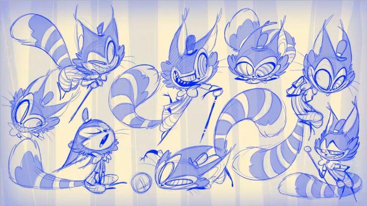 Unreleased sketches of Cheshire by Vivziepop