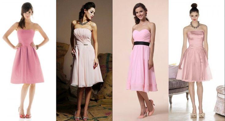 robes rose pastel pour invité de mariage