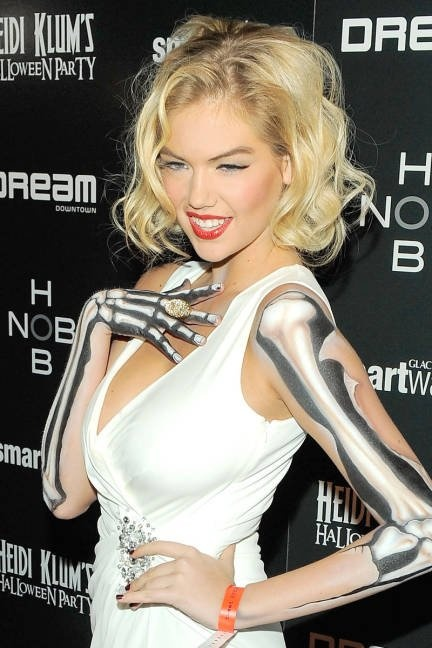 Kate Upton as zombie Marilyn Monroe - in a slideshow of Hollywood Halloween Hair