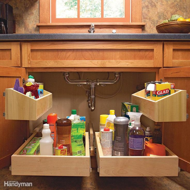 7 Roll Out Cabinet Drawers You Can Build Yourself: 17 Best Ideas About Cleaning Supply Storage On Pinterest
