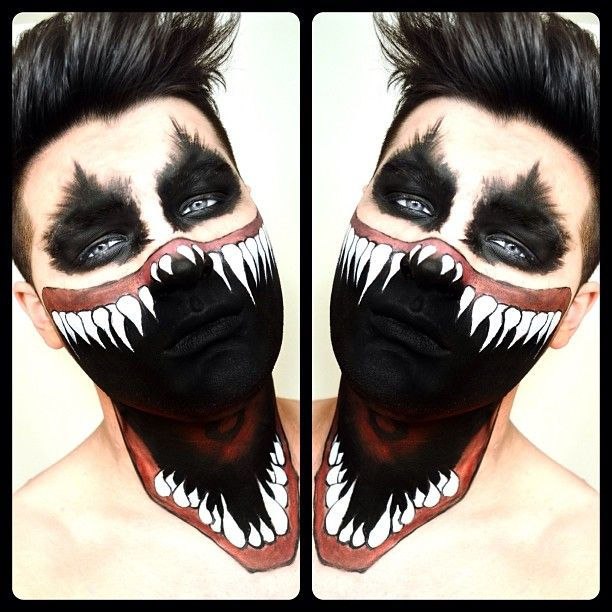 DIY Big Mouth Halloween makeup inspiration - www.facebook.com/alexfactionmakeup