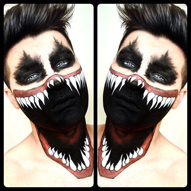DIY Big Mouth Halloween makeup inspiration - www.facebook.com/alexfactionmakeup