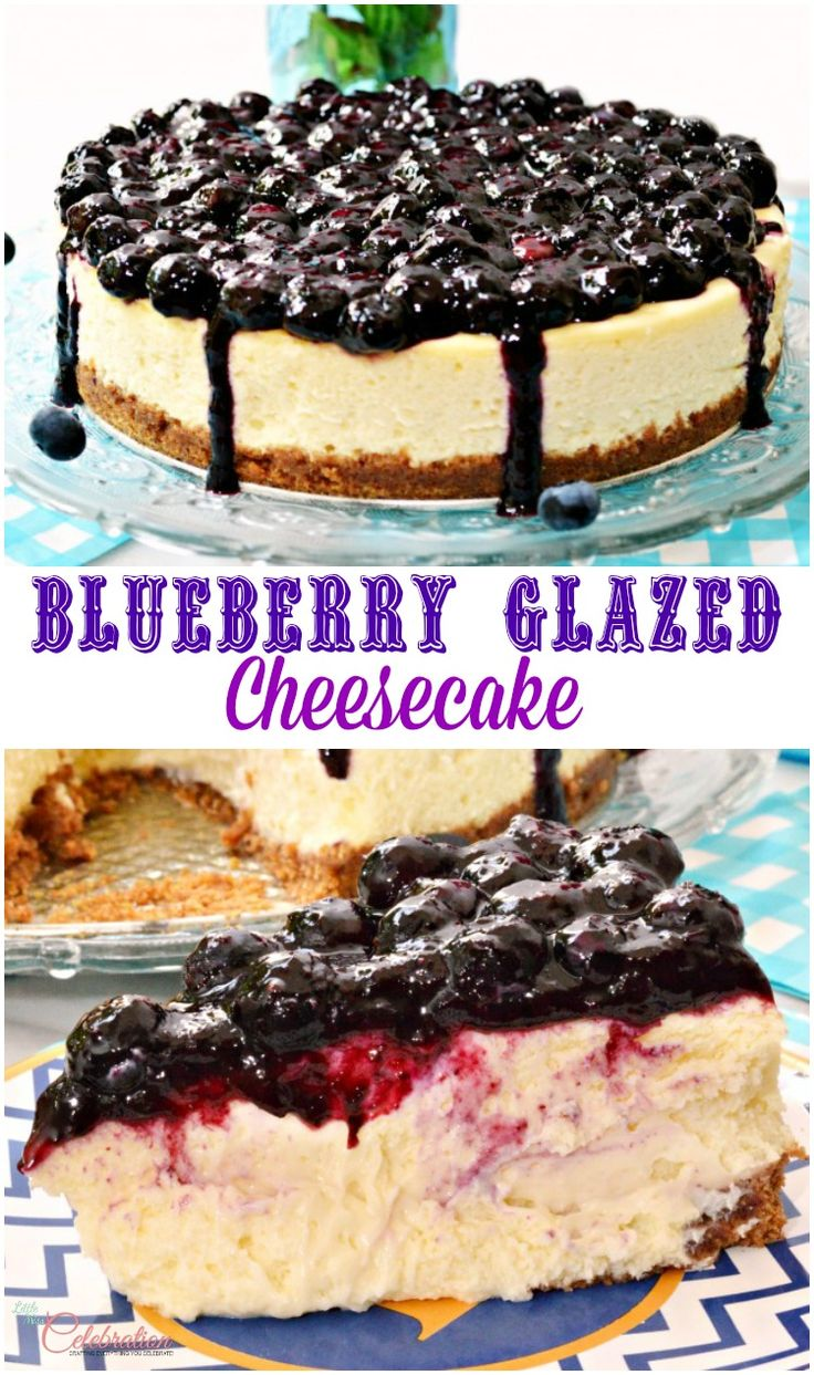 Blueberry Glazed Cheesecake Recipe Homemade Blueberry